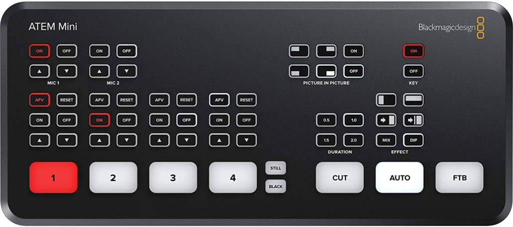 Atem Mini Vision Mixer, with USB virtual webcam output
